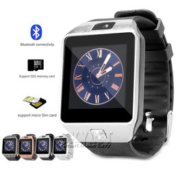 Wholesale DZ09 Smart Watch Dz09 Watches Wrisbrand Android iPhone Watch Smart SIM Intelligent Mobile Phone Sleep State Smart watch Retail Package
