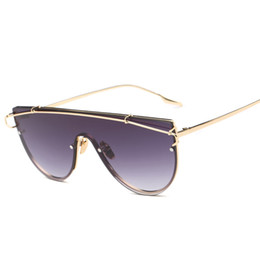 korea sunglasses Promo Codes - Wholesale- Beyond Star New Oversized Frame Women Sunglasses Korea Steampunk Brand Designer Big Sports Men Mirror Sun Glasses Shades Oculos