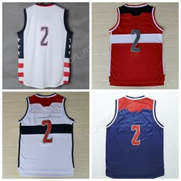 Wholesale Retro Xl - Top Quality Retro 2 John Wall Basketball Jerseys Kentucky Wildcats College 11 John Wall Jersey Men Color Red White Stitched with player name