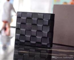 Wholesale Pocket Square Men - 2017 new best quality men leather brand classic luxury wallet casual short paragraph designer cardholder pocket fashion wallet men