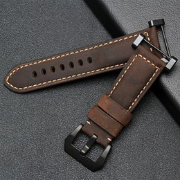 Wholesale Clasp Kits - New For Suunto Core band Crazy Horse Leather strap With PVD Clasp + Adapter Kit +Tools