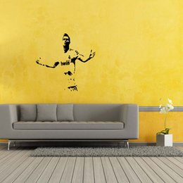 Wholesale Quotes Hot - Hot Sale For Ronaldo Football Real Madrid Quote Wall Stickers Art Removable Vinyl Decals Diy Bedroom Sitting Room