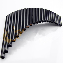 Wholesale musical folk instruments - Wholesale- UU 22 PipesPanflute ABS Wind Instrument Panpipe G Key Flauta Handmade Panflute Flauta Folk Musical Instruments 22 Pipe Panflute