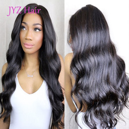 Wholesale Vietnamese Silk - Brazilian Peruvian Malaysian Indian Body Wave Hair Silk Base Full Lace Human Hair Wigs With Baby Hair Body Wave Lace Front Wigs