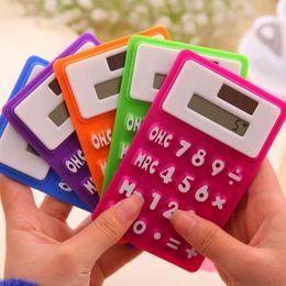 Wholesale Mini Soft Keyboard - Stationery portable, soft keyboard, office learning, solar silica, mini calculator wholesale