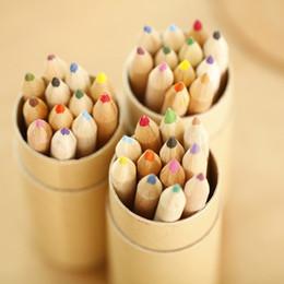 Wholesale Wood Pen Pencil Set - 4Color Coloring Pencils Enchanted Forest Painting Pens Colored Pencil Creative Writing Tools 12 Colors Colouring Pencils