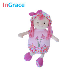 Wholesale Backpack For Dolls - Wholesale-cute pink sweet plush backpack for girls with a cute doll soft and high quality backpack for little girls birthday gift 45CM