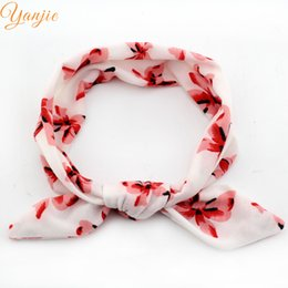 Wholesale girl funky - 12pcs  Lot Wholesale Funky Spring Style Butterfly Print Cotton Infantile Bunny Headband Kids Girl Diy Hair Accessories Fashion Headwear