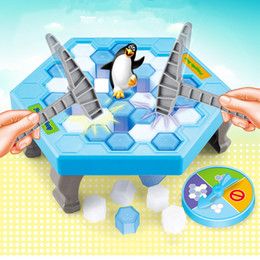 Wholesale Interactive Tables - Penguin Trap blocks toys Parent-child interactive game Ice Breaking Table Games Pound-A-Peg Toys for Kids motor function toys