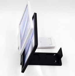 Wholesale Display Stand For Glasses - New 3D Enlarged Screen Glass Amplifier Eyes Display F1 3D Video Folding Holder Stand Magnifying for Mobile.