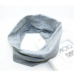 Wholesale Korean Headbands For Women - Wholesale-Korean Style Gray Women Girls Elastic Stretch Sports Headbands Wide Headband For Yoga 2016 Hot New
