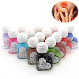 Wholesale Nail Art Cute Designs - Wholesale-35 Colors Cute Nail Polish Nail Gel Base Top Coat UV LED Lamp Gel Nail Art Design Long Lasting New Bright Colorful Manicure Tool