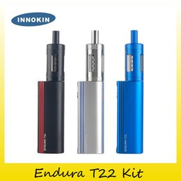 Wholesale Lipo Wholesale - Original Innokin Endura T22 Starter Kit Built In 2000mAh battery Lipo Box Mod Vaporizer Kit with Prism T22 Tank 100% genuine 2201059