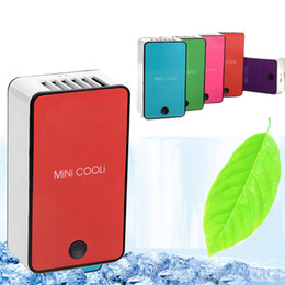 Wholesale Bladeless Fans - Wholesale- New Design Portable Mini Bladeless Cool Fan USB Rechargeable Air Conditioning Fan Appliances Free Shipping
