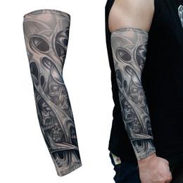 Tatuaggi Temporanei Tatuaggi Temporanei Body Art Braccio Bracci Accessori Ride Protezione solare Protezione scaldamani Colore casuale da pattini di paintball fornitori