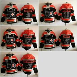 Wholesale Hoodie Xxl - 2017 Philadelphia Flyers Hockey Hoodies 11 Travis Konecny #17 Wayne Simmonds #53 Shayne Gostisbehere #28 claude giroux 9 Ivan Provorov Black