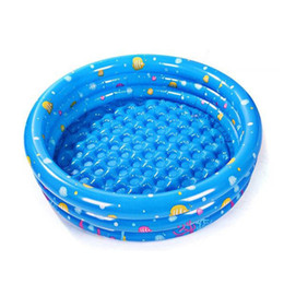 Wholesale bathtub inflatable pool - Wholesale- Inflatable Swimming Pool Trinuclear Piscina Paddling pool Portable Outdoor Basin Bathtub Water Swimming Pools for Water Sports