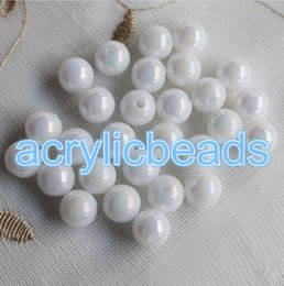 Wholesale Shell Pearl Loose Round Beads - Cheap Wholesale AB White Sea Shell Colors Acrylic Faux Pearl Beads Loose Spacer Round Balls 6-30mm for Jewelry Making