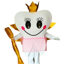 Wholesale Golden Teeth - Teeth and Golden Toothbrushes Mascot Costumes Cartoon Character Adult Sz 100% Real Picture