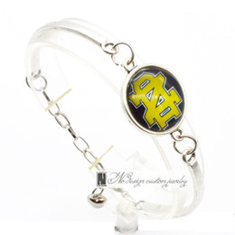 Wholesale Fight Set - 2017 Fashion Bracelet&Bangle Notre Dame NACC The Fighting Irish University Team Sport Charms Bracelet for Women Fan Jewelry SP006