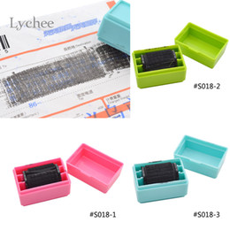 Wholesale Stamps For Scrapbooking - Wholesale- Lychee 1 Piece Security Hide ID Decorative Rubber Stamps For Scrapbooking Roller Stamp Craft For Office