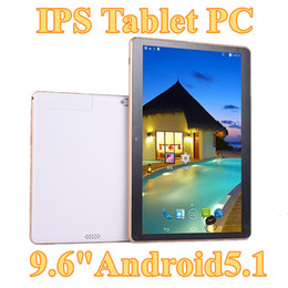 Wholesale 1gb Ram Tablets - 5X New Arrival 9.6 Inch Tablet PC MTK8382 Quad Core Android 5.1 Tablet 1GB RAM 16GB ROM 5mp IPS Screen 800*1280 GPS 3G phone Tablets E-9PB