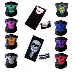 Wholesale Motorcycle Boys - Wholesale -2017 New Motorcycle bicycle outdoor sports Neck Face Mask Skull Mask Full Face Head Hood Protector Bandanas