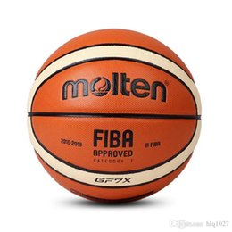 Wholesale Basketball Official - Wholesale Molten Basketball Ball GF7X High Quality Molten PU Material Official Size7 Basketball For Match Game Free Shipping