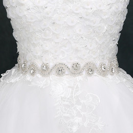 Wholesale Sparkling Rhinestone Sashes - 2017 Sparkling Bridal Sashes Top Quality Bling Bling Wedding Dress Belt New Arrival Sparkling Rhinestone Wedding Accessories