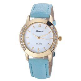 Wholesale clock geneva - Women Watches 2017 Geneva Wrist Watches Famous Brand Female Clock Quartz Watch Ladies Quartz-watch Montre Femme Relogio Feminino