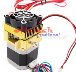 Wholesale 3d Printers Wholesale - by dhl or ems 100pcs Upgrade Extruder MK8 Head J-head Hotend For Makerbot Prusa i3 3D Printers Parts with Motor Fan