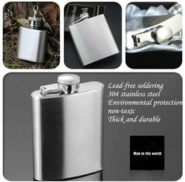 Wholesale Free Fork - Hot Selling Gift Groomsman Personalized(extra charge) Stainless Steel 1-10-oz Hip Flasks Wedding favors wedding suppliers free shipping