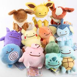 Wholesale Pokemon Raichu - Hot ! Poke Pocket Monsters Pikachu Charmander Squirtle Bulbasaur Eevee Raichu Jolteon Gengar Plush Doll Toy 12-18cm Wholesale