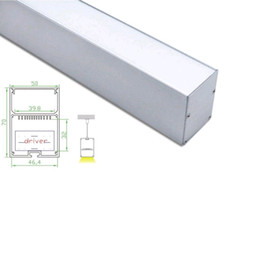 Wholesale Large Led Ceiling Lights - 10 X 1M sets lot Office lighting aluminium led profile and anodized super large square channel for ceiling or pendant lamps