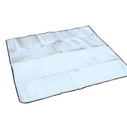 Wholesale Eva Sleeping Mats - Wholesale- 200x200cm Camping Mat Foldable Folding Sleeping Mattress Mat Pad Waterproof Aluminum Foil EVA Outdoor