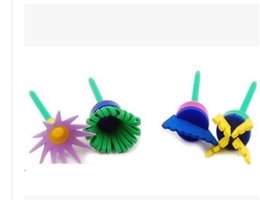 Wholesale Paint Roller Tool - 04 Free shipping Painting supplies arts tools Children's painting sponge brush seal paint roller brush for child