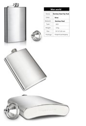 Wholesale Cloth Bags Candles - Hot Selling Gift Groomsman Personalized Stainless Steel 1-18-oz Man Hip Flasks Wedding favors wedding suppliers in good price free shipping