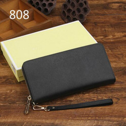 Wholesale Acrylic Clutch Bags - Genuine leather wallet high quality famous big designers clutch bag women handbag shoulder messenger bag coin purse