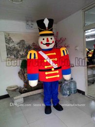 Wholesale Mascot Soldier - guard mascot costume free shipping, cheap high quality carnival party Fancy plush walking soldier mascot adult size.