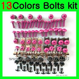 Wholesale Zx9r Full Fairing Kit - Fairing bolts full screw kit For KAWASAKI NINJA ZX9R 98 99 ZX-9R ZX 9 R 98-99 ZX 9R ZX9R 1998 1999 99 Body Nuts screws nut bolt kit 13Colors