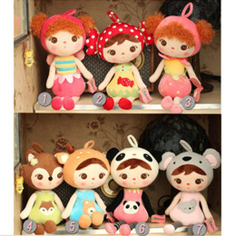 bonecas de pano de natal Desconto Novo 46 cm crianças Kawaii Pano De Pelúcia Boneca de Brinquedo De Pelúcia Bonecas de Coelho Para Presentes de Natal Do Aniversário Do Bebê Frete Grátis