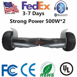 Wholesale Powering Scooter - USA Stock Strong Power 500W*2 Hummer Ultra Wide Wheels Smart Electric LED Scooter Hoverboard Bluetooth Self Balancing Scooters Skateboard