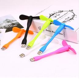 Wholesale First Flexible - Portable Flexible USB Cooler Mini Cooling Fan Cute Colorful Cooler For Laptop Desktop Computer