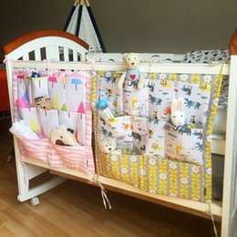 Wholesale Cute Infant Baby Bags - Baby Crib Storage Bag Cotton Toys Diapers Bags Folding Storage Bags For Baby Infant Cute print Hanging free shipping in stock