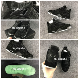 Wholesale KAWS Air Retro Cool Black Glow In the Dark Mens Basketball Shoes Sneakers Retros s Black Suede Basket ball Sports Shoes Size