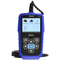 Wholesale Truck Fault Diagnostic - diagnostic scan tool Free Shipping professional heavy duty truck fault automotive scanner Nexas NL102 car truck diagnostic scan tools 2 in 1