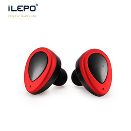 Wholesale Spy Wireless Earphones - spy ear headset China dual stereo handsfree wireless bluetooth 4.0 version earphone factory outlet wholesale HS034 Sample