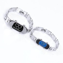 Wholesale Valentine Gifts For Couples - Wholesale-Hot 1 pair Soulmate Titanium Steel Chain Bracelets Bangle Couples Lovers Bracelet For Men And Women Valentine Gift