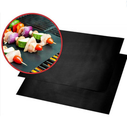 Wholesale Grill Tools - BBQ Grill Mat Durable Non-Stick Barbecue Mat 40*33cm Cooking Sheets Microwave Oven Outdoor BBQ Cooking Tool 1000pcs OOA1935