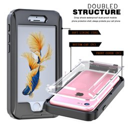 Wholesale Shock Proof Mobile - Hot selling Waterproof shockproof Case TPU+PC Dirt Shock Proof Mobile Cell Phone Cases Cover for iphone 6S 7 plus With Retail package